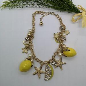 Kate Spade lemon statement necklace